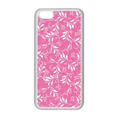 Fancy Floral Pattern Apple Iphone 5c Seamless Case (white)
