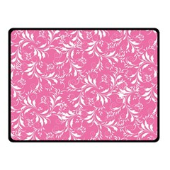 Fancy Floral Pattern Double Sided Fleece Blanket (small)