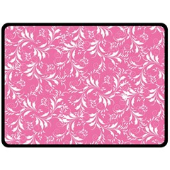 Fancy Floral Pattern Double Sided Fleece Blanket (large)