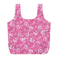 Fancy Floral Pattern Full Print Recycle Bag (l)