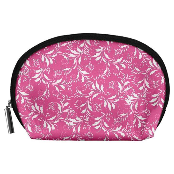 Fancy Floral Pattern Accessory Pouch (Large)