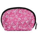 Fancy Floral Pattern Accessory Pouch (Large) Back