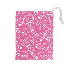Fancy Floral Pattern Drawstring Pouch (large)