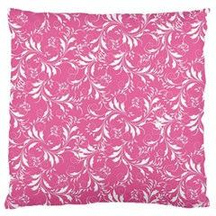 Fancy Floral Pattern Large Flano Cushion Case (two Sides)