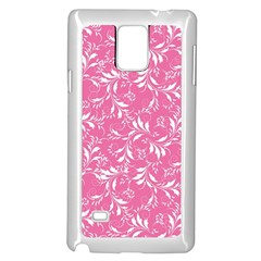 Fancy Floral Pattern Samsung Galaxy Note 4 Case (white)
