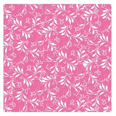 Fancy Floral Pattern Large Satin Scarf (square)