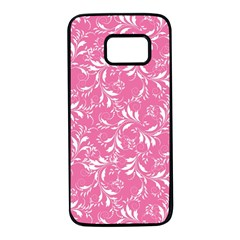 Fancy Floral Pattern Samsung Galaxy S7 Black Seamless Case