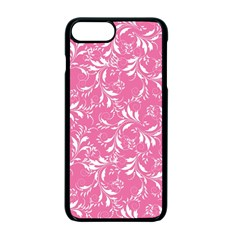 Fancy Floral Pattern Apple Iphone 7 Plus Seamless Case (black)