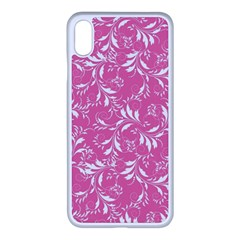 Fancy Floral Pattern Apple Iphone Xs Max Seamless Case (white)