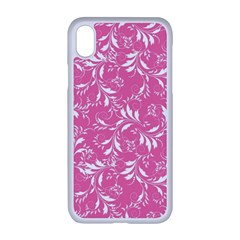 Fancy Floral Pattern Apple Iphone Xr Seamless Case (white)