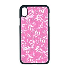 Fancy Floral Pattern Apple Iphone Xr Seamless Case (black)