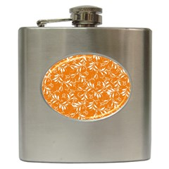 Fancy Floral Pattern Hip Flask (6 Oz) by tarastyle