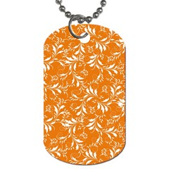 Fancy Floral Pattern Dog Tag (two Sides)