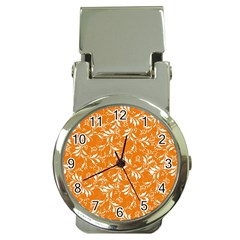 Fancy Floral Pattern Money Clip Watches