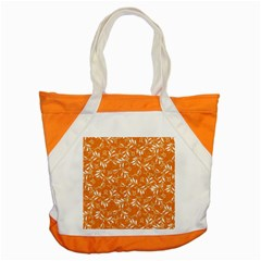 Fancy Floral Pattern Accent Tote Bag