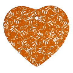 Fancy Floral Pattern Heart Ornament (two Sides)