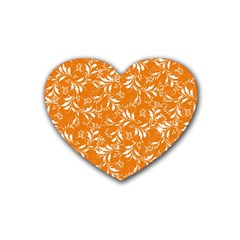 Fancy Floral Pattern Heart Coaster (4 Pack)