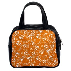 Fancy Floral Pattern Classic Handbag (two Sides)