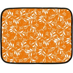 Fancy Floral Pattern Double Sided Fleece Blanket (mini)