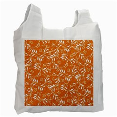 Fancy Floral Pattern Recycle Bag (one Side)