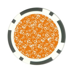 Fancy Floral Pattern Poker Chip Card Guard (10 Pack)