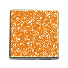 Fancy Floral Pattern Memory Card Reader (square 5 Slot)