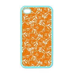 Fancy Floral Pattern Apple Iphone 4 Case (color)