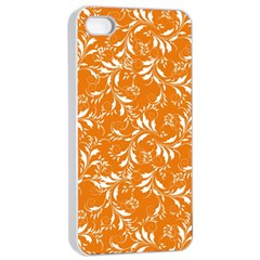 Fancy Floral Pattern Apple Iphone 4/4s Seamless Case (white)