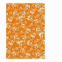Fancy Floral Pattern Small Garden Flag (two Sides)