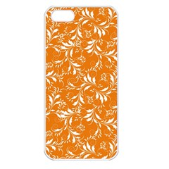 Fancy Floral Pattern Apple Iphone 5 Seamless Case (white)