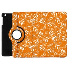 Fancy Floral Pattern Apple Ipad Mini Flip 360 Case