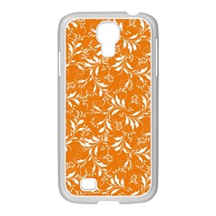 Fancy Floral Pattern Samsung Galaxy S4 I9500/ I9505 Case (white)