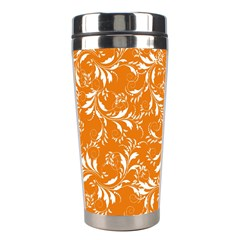 Fancy Floral Pattern Stainless Steel Travel Tumblers