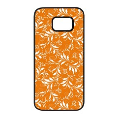 Fancy Floral Pattern Samsung Galaxy S7 Edge Black Seamless Case by tarastyle