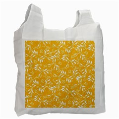 Fancy Floral Pattern Recycle Bag (two Side)
