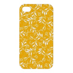 Fancy Floral Pattern Apple Iphone 4/4s Premium Hardshell Case
