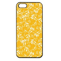 Fancy Floral Pattern Apple Iphone 5 Seamless Case (black)