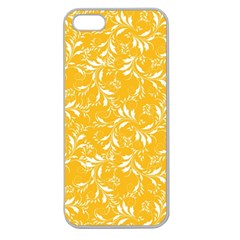 Fancy Floral Pattern Apple Seamless Iphone 5 Case (clear)