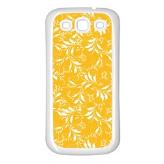 Fancy Floral Pattern Samsung Galaxy S3 Back Case (white)