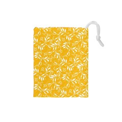 Fancy Floral Pattern Drawstring Pouch (small)