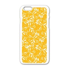 Fancy Floral Pattern Apple Iphone 6/6s White Enamel Case