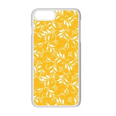 Fancy Floral Pattern Apple Iphone 7 Plus Seamless Case (white)