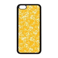 Fancy Floral Pattern Apple Iphone 5c Seamless Case (black)