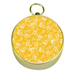 Fancy Floral Pattern Gold Compasses