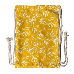 Fancy Floral Pattern Drawstring Bag (large)