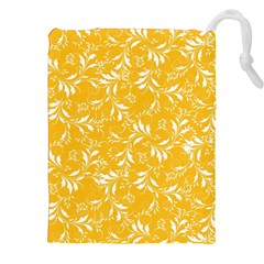 Fancy Floral Pattern Drawstring Pouch (xxl)