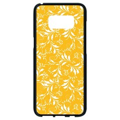 Fancy Floral Pattern Samsung Galaxy S8 Black Seamless Case by tarastyle