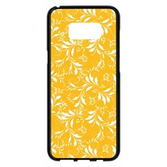 Fancy Floral Pattern Samsung Galaxy S8 Plus Black Seamless Case