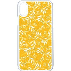 Fancy Floral Pattern Apple Iphone Xs Seamless Case (white)