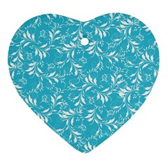 Fancy Floral Pattern Ornament (heart)